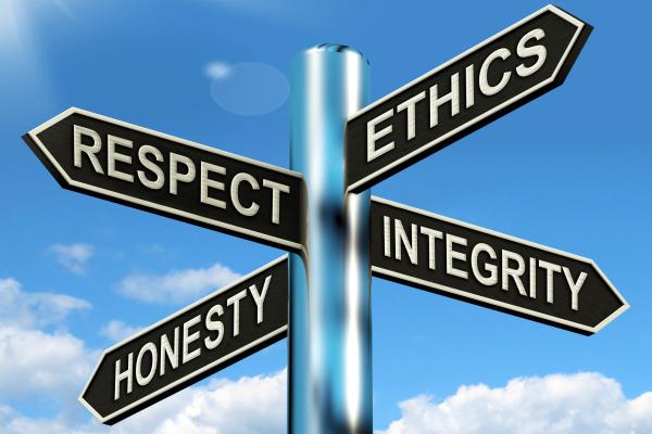 Respect Ethics Honesty Integrity
